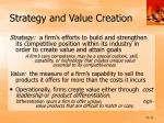 strategy and value creation