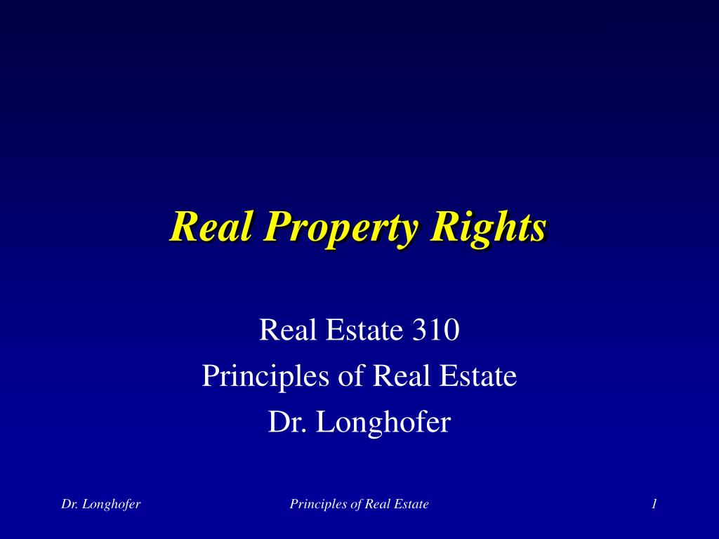 real property rights l.