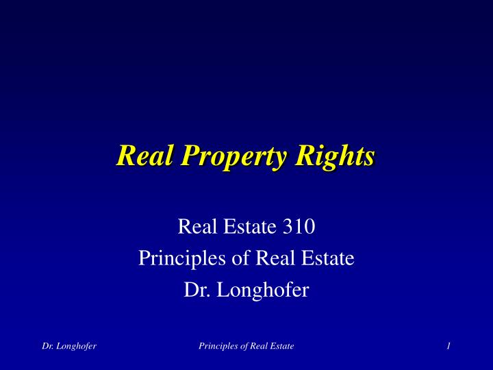 Real property rights