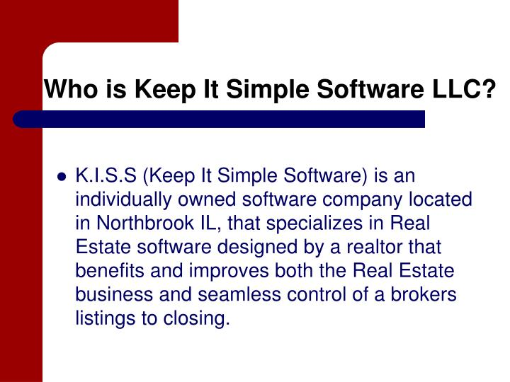 Who is keep it simple software llc