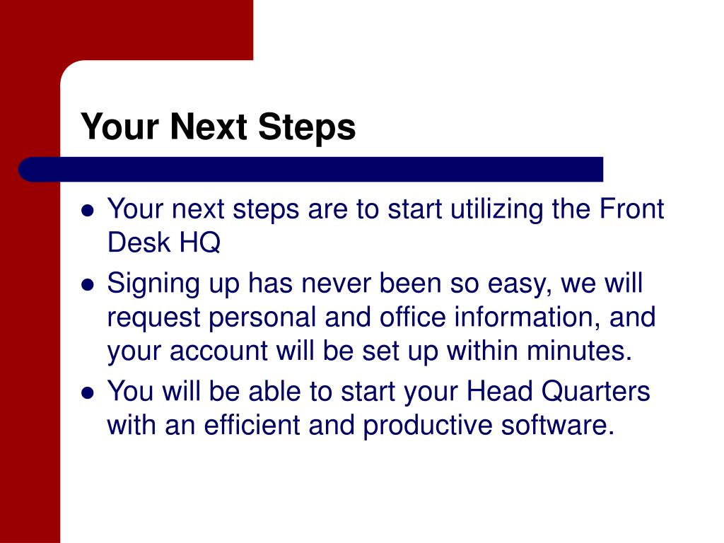 Your Next Steps
