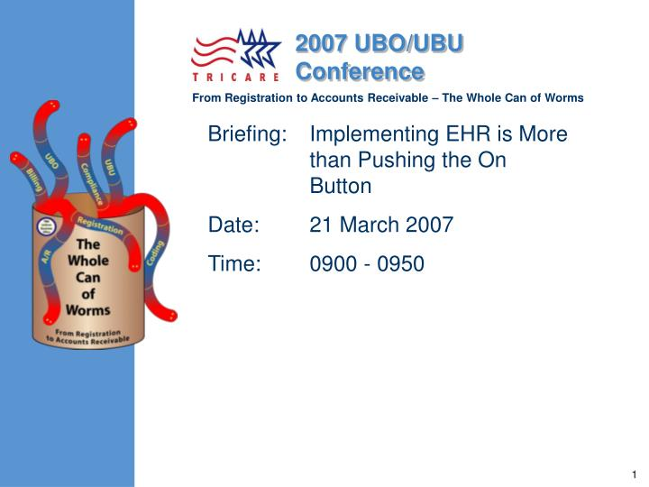 briefing implementing ehr is more than pushing the on button date 21 march 2007 time 0900 0950 n.