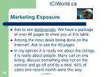 marketing exposure