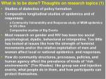 what is to be done thoughts on research topics 1