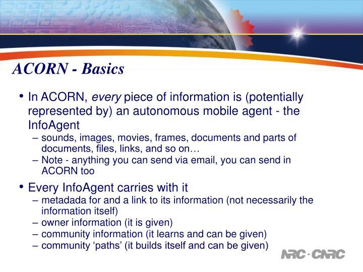 ACORN - Basics
