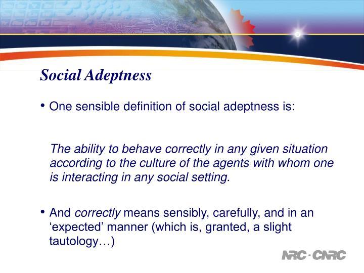 Social Adeptness
