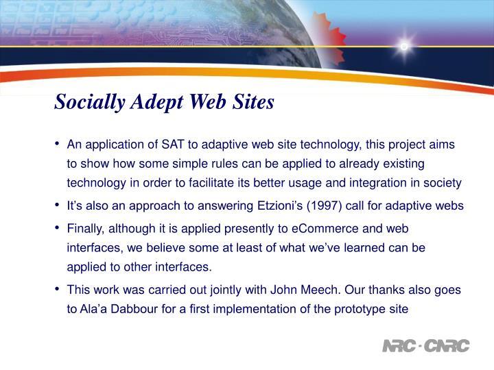 Socially Adept Web Sites