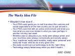 the wacky idea file