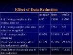 effect of data reduction