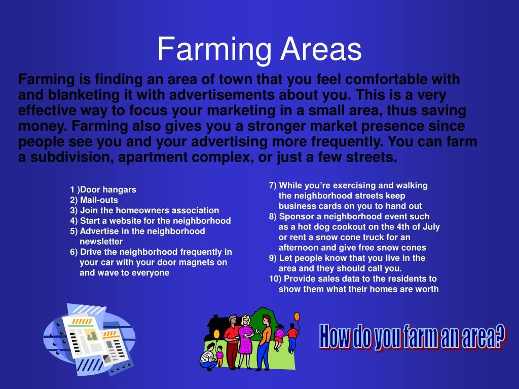 Farming Areas