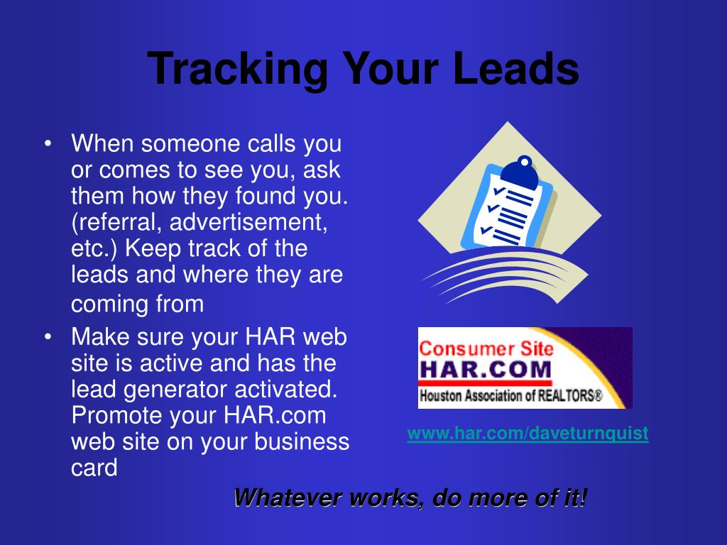 Tracking Your Leads