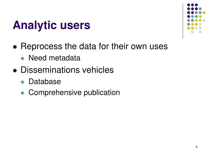 Analytic users