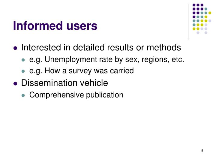 Informed users