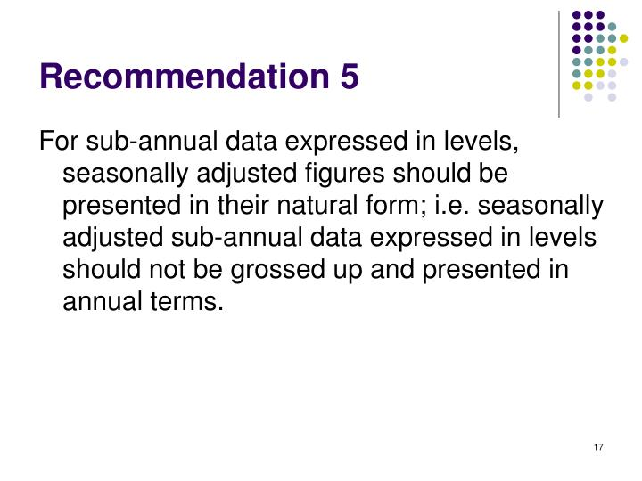Recommendation 5