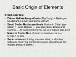 basic origin of elements