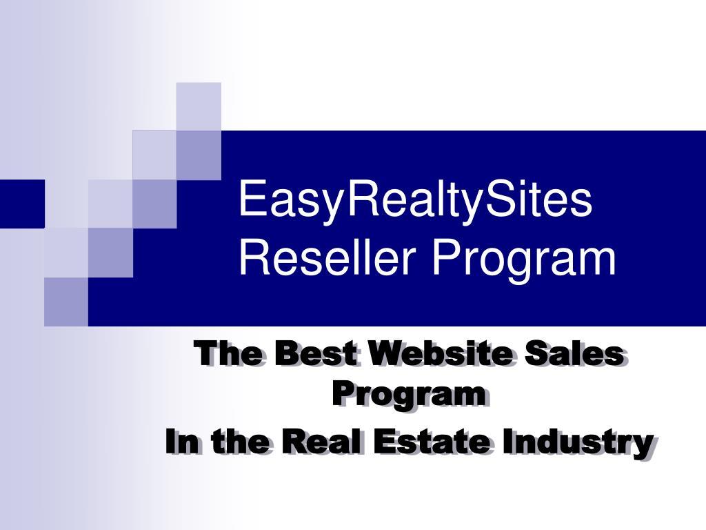 EasyRealtySites Reseller Program