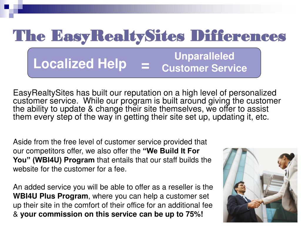 The EasyRealtySites Differences
