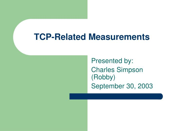 tcp related measurements n.