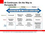 bi continuum on the way to pervasive bi