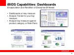 ibids capabilities dashboards encapsulation and rendition of enterprise bi needs