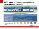 ibids value a comprehensive next generation bi platform