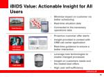 ibids value actionable insight for all users