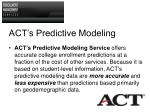 act s predictive modeling