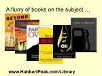 a flurry of books on the subject