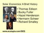solar economics a brief history