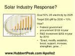 solar industry response