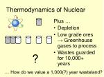 thermodynamics of nuclear
