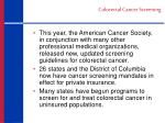 colorectal cancer screening1