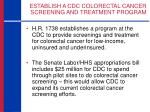 establish a cdc colorectal cancer screening and treatment program2