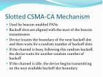 slotted csma ca mechanism