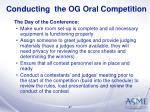 conducting the og oral competition27