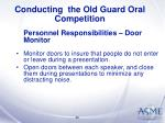conducting the old guard oral competition30