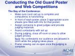 conducting the old guard poster and web competitions37
