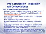 pre competition preparation all competitions12