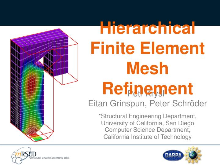 hierarchical finite element mesh refinement n.