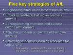 five key strategies of a f l