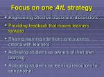 focus on one afl strategy