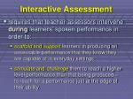 interactive assessment
