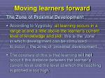 moving learners forward