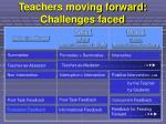 teachers moving forward challenges faced