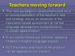 teachers moving forward