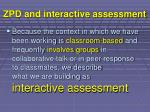 zpd and interactive assessment