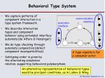 behavioral type system