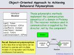 object oriented approach to achieving behavioral polymorphism