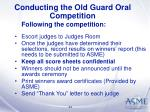conducting the old guard oral competition34