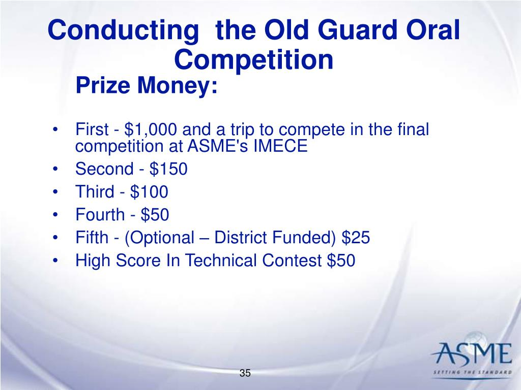 Conducting  the Old Guard Oral Competition